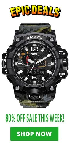 06faa113087 Discounted Smael Special Ops Watch is currently 80% off