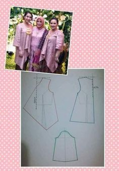 Kebaya pattern (Not for the middle)