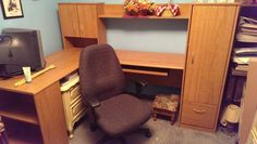 image 1 Office Desk, Corner Desk, Image, Chair, Furniture, Home Decor, Recliner, Homemade Home Decor, Desktop