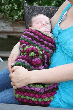 Ravelry: Blackberry Salad Striped Baby Blanket pattern by Tamara Kelly