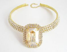 Champage and Gold Crystal and Rhinestone by LillyJosephine on Etsy