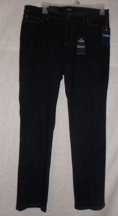 New Chaps Daniella Curvy Slimming Fit Straight Leg Denim Jeans Plus 16W  #Chaps #SlimStraightStraightLeg