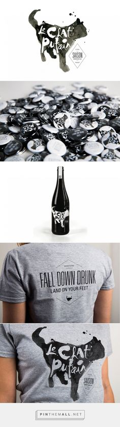 "St Louis Design Week: Le Chat Putain | TOKY curated by Packaging Diva PD. Le Chat Putain"" was winning contribution to St. Louis Design Week's beer branding competition. The brand, literally translates to ""that f*cking cat,"" graced beer labels, t-shirts, buttons, and more : )"