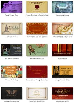 Own or operate a baby boutique check out business cards galore antique dealer business cards a collection of the best antique shop business cards youll reheart Gallery