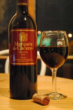 Rioja... me gusta mucho! I've become a big fan of Spanish wine. Marqués de Cáceres is a great go-to if you're looking to try something new