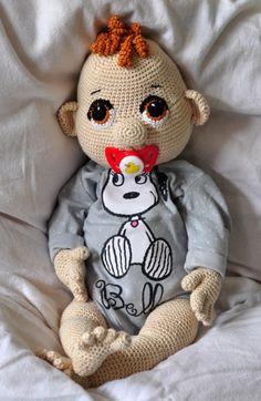 Crochet Dolls crochet pattern, amigurumi - baby Quinny - pdf, English or German - Crochet Bear, Cute Crochet, Crochet Animals, Crochet Crafts, Crochet Projects, Baby Knitting Patterns, Amigurumi Patterns, Amigurumi Doll, Crochet Doll Pattern
