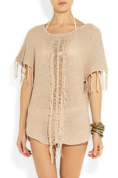 Melissa Odabash|Coleene knitted cotton-blend top|NET-A-PORTER.COM