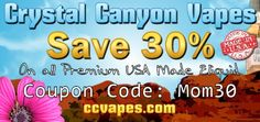 Celebrate Mothers Day and save 30% off all of Crystal Canyon Vapes premium crafted #eliquid using coupon code: mom30 http://www.ccvapes.com CCVapes blends, bottles and ships its #ejuice fresh to order daily! International • Armed Forces APO/FPO always welcome!