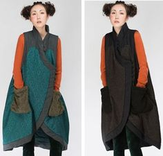 Gd-Vintage-Chinese-Folk-Style-Jacquard-Fabric-Manual-Button-Womens-Quilted-Vest