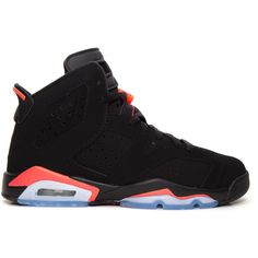 Air Jordan 6 Retro BG GS Infrared ❤ liked on Polyvore featuring shoes