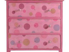 Pöttyös komód   Endrédi Design Dresser, Pink, Furniture, Home Decor, Powder Room, Decoration Home, Room Decor, Stained Dresser, Home Furnishings