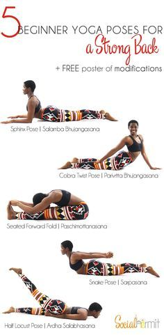Yoga for beginners - Looking to strengthen your core? These poses target an often neglected part of the core muscles, the back~