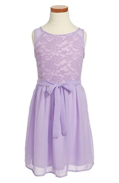 Zunie Lace Chiffon Sleeveless Dress (Big Girls) available at #Nordstrom