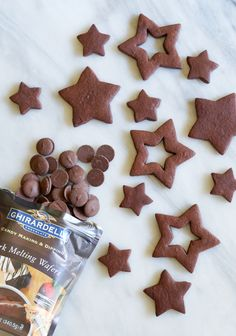 Chocolate-Dipped Chocolate Almond Cut-Out Cookies