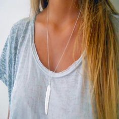 At the Drop of a Feather Necklace