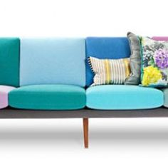 simple couch makeover- such fun Couch Makeover, Cozy Sofa, Cool Couches, Formal Living Rooms, Cushions On Sofa, Decoration, Cool Furniture, Interior Inspiration, Sweet Home