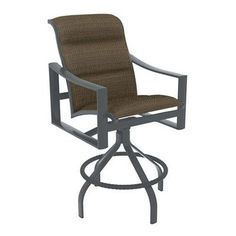 "Tropitone Kenzo 30"" Bar Stool Frame Finish: Graphite, Seat Color: Sparkling Water"