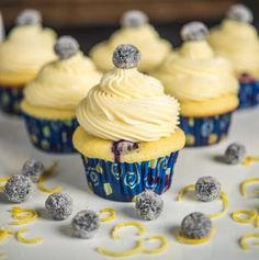 Blueberry Lemon Cupcakes with White Chocolate Frosting Recipe