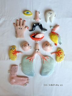 Whimsical body parts by Lili Scratchy