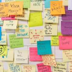 If you're looking for a way to cope with your emotions after the recent US Presidential election, you're not alone—and there's a New York City subway stop to prove it. Called Subway Therapy, it's part a public art project and part a big group hug, allowing people to write a short message on a Post-It note and stick it on the wall. Many of the writings contain sentiments of hope, fear, and anger at the current state of affairs. Together, they're a comfort to read by showing that many others…