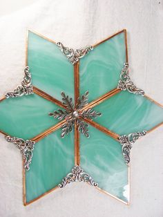 TEAL Christmas  Tree Topper  Ships by Dec 18  by MoreThanColors, $48.50