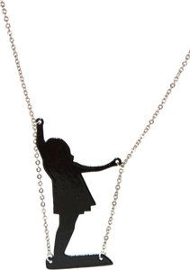 Girl on Swing Necklace great idea for shrinky dinks