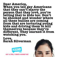 THANK YOU!!!!! The first intelligent thing I've heard out of Sarah Silverman's mouth!