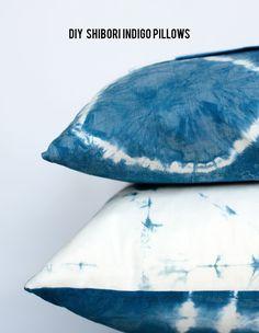 DIY Shibori Indigo Dye pillow // aliceandlois.com