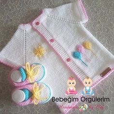 This post was discovered by Te Sweater Knitting Patterns, Easy Knitting, Knitting Designs, Knit Patterns, Knitting Tutorials, Crochet Home, Crochet For Kids, Baby Set, Knit Baby Sweaters