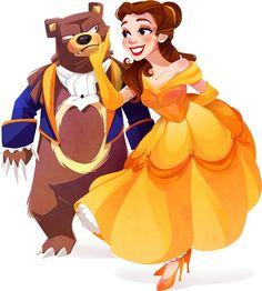 Disney + Pokemon Belle and Ursaring