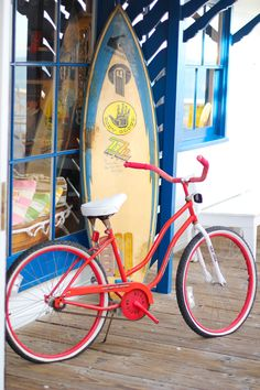 Bicycle and surf board I Love The Beach, Summer Of Love, Summer Beach, Summer Fun, Summer Time, Summer Days, Summer Picnic, Beach Bum, Deco Surf