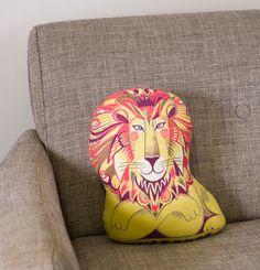 Clarence the Lion Tea Towel   Cloth Kit - A silkscreen design by Sarah  Young. 985063172056