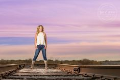 Raven Donner - Frisco High School - Senior Portraits - Class of 2016 - Senior Pictures - Downtown Prosper - #seniorpics - Ideas for Girls - Fall - Railroad Tracks - Sunset - @sadibrooke - Stunning - #seniorportraits - Tyler R. Brown Photography