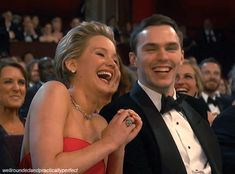 """Just look how they laughed together. Oh, and Nicholas saying, """"Well done, babe"""" after Jennifer won a Golden Globe is breaking our hearts all over again. 