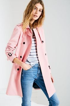 How gorgeous is this?!! Pink fashion on point Duncombe Trench Coat