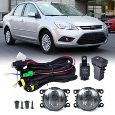 31.59$  Watch here - http://aivsu.worlditems.win/all/product.php?id=32796622523 - DWCX Wiring Harness Sockets + Switch + 2pcs Fog Lights Lamp 4F9Z-15200-AA for Ford Focus Honda CR-V Acura Nissan Suzuki Subaru