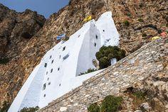 Monastery in the rocks- Hozoviotissa Monastery Greece Islands, Amazing Architecture, The Rock, Rocks, Landscape, Nature, Beautiful, Scenery, Naturaleza