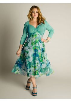 Plus Size Riella Sun Dress image - OOOooo for a spring wedding guest dress - so pretty!!
