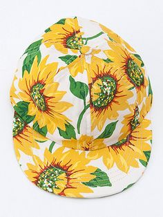 sunflower floral printed hat, american apparel