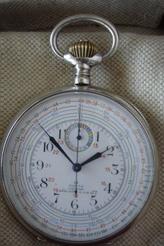 Omega Pocket Chronograph 1914 Taschenuhr Uhr Watch Montre Yachting Stopwatch | eBay