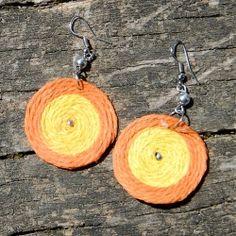 Boucles d'oreilles spirales en ficelle de chanvre Fibres, Crochet Earrings, Drop Earrings, Jewelry, Spirals, Ears, Boucle D'oreille, Locs, Bijoux
