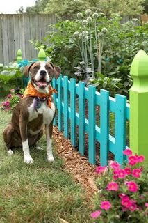 The Urban Un-MARTHA: Adorable Garden Fence From Leftovers