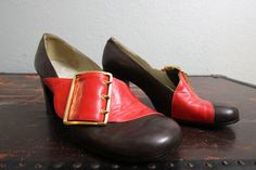 1960s leather mod shoes/ 60s leather buckle by GidgetteBardot