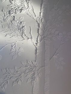 Life-sized Raised Plaster Aspen Tree Stencil Set