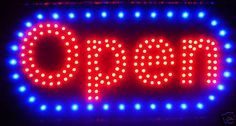 """LED Neon Light Open Sign With Animation On/off and Power On/Off two Switchs for Business By """"E Onsale"""" L46 e-onsale,http://www.amazon.com/dp/B002V94KKE/ref=cm_sw_r_pi_dp_NhCBtb0WDZW8AGW5"""