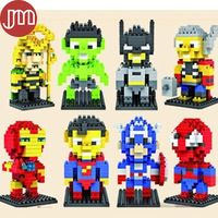 The Avengers Models Building Toy Blocks Captain America Spiderman Batman Hawkeye Assemblage Model Educational Limited Collection