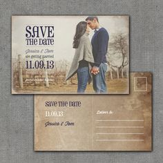 Rustic Save the Date Postcard 4x6 Printable by mmalerdesigns, $18.00