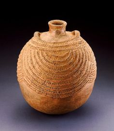 Africa | Bottle.  Igbo peoples.  Nigeria | ca. 1960 | Ceramic