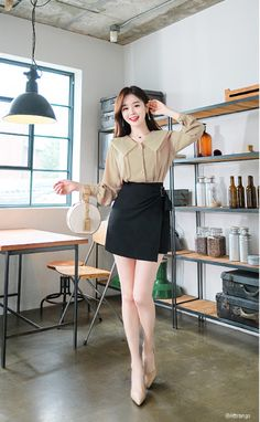 Korean Fashion Dress, Korean Fashion Summer, Korea Fashion, Asian Fashion, Trendy Outfits, Fashion Outfits, Womens Fashion, Kawaii Fashion, Comfortable Outfits