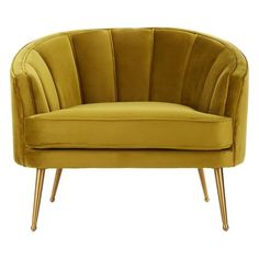 Grayson Velvet Tub Chair In Pistachio With Gold Finish Legs